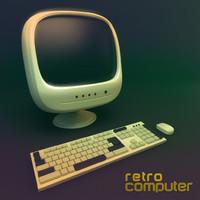 retro computer 3d model