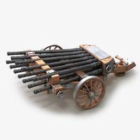 3d model cannon medieval v1