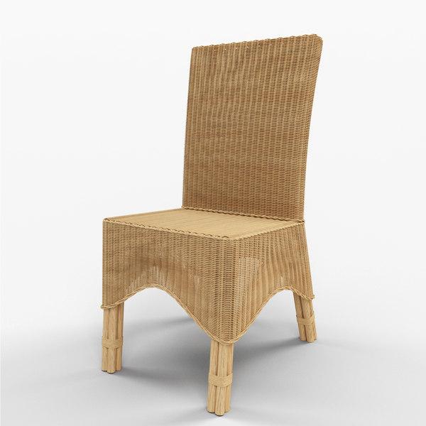 3d model manhattan dining chair