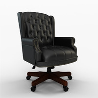Traditional Series Office Chair with Brass Head Trim