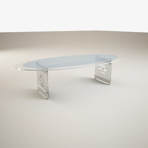 3d model realistic glass table