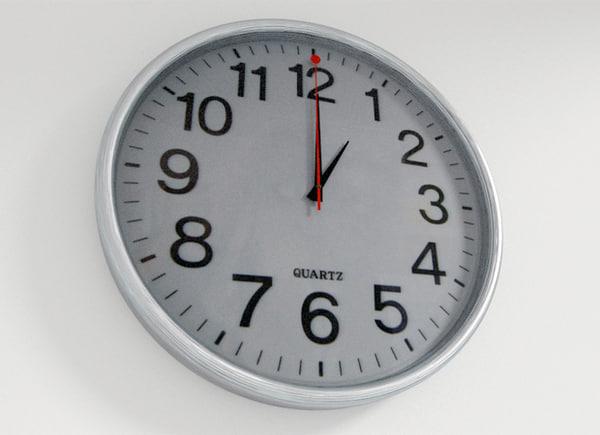 3d model quartz wall clock