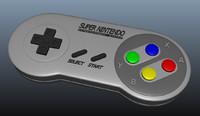 free super nintendo 3d model