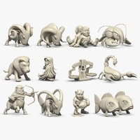 zodiac signs 3d model
