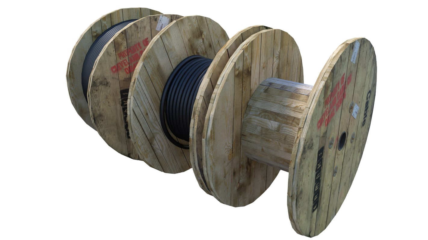 3d cable drums model