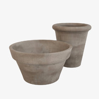 3d max decorative pots