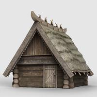 medieval village house 3d 3ds