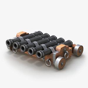 cannon medieval v3 3d max