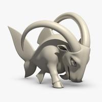free zodiac capricorn 3d model