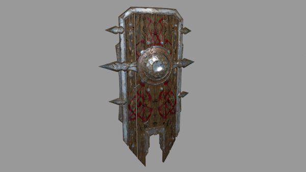 free 3ds model fantasy shield