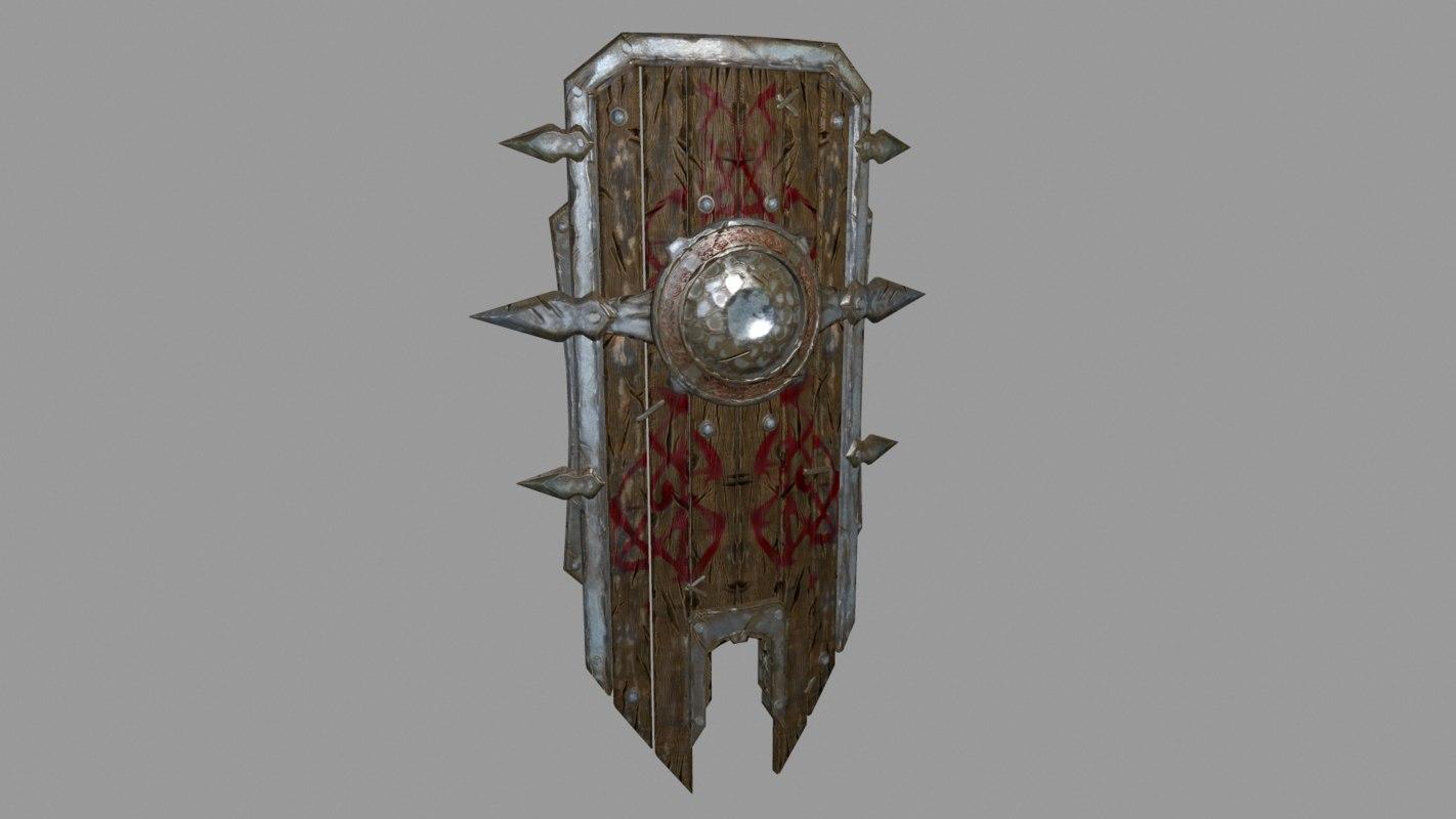 free 3ds model fantasy shield