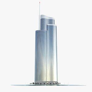 building dubai towers - 3d max