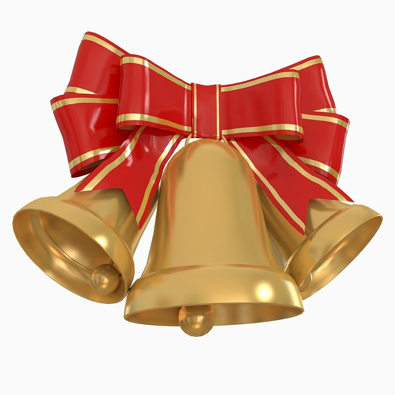 christmas holiday bells 3d max