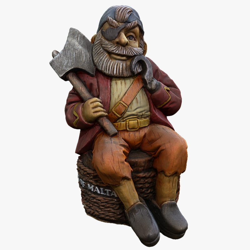 3d model of decorative pirate zbrush