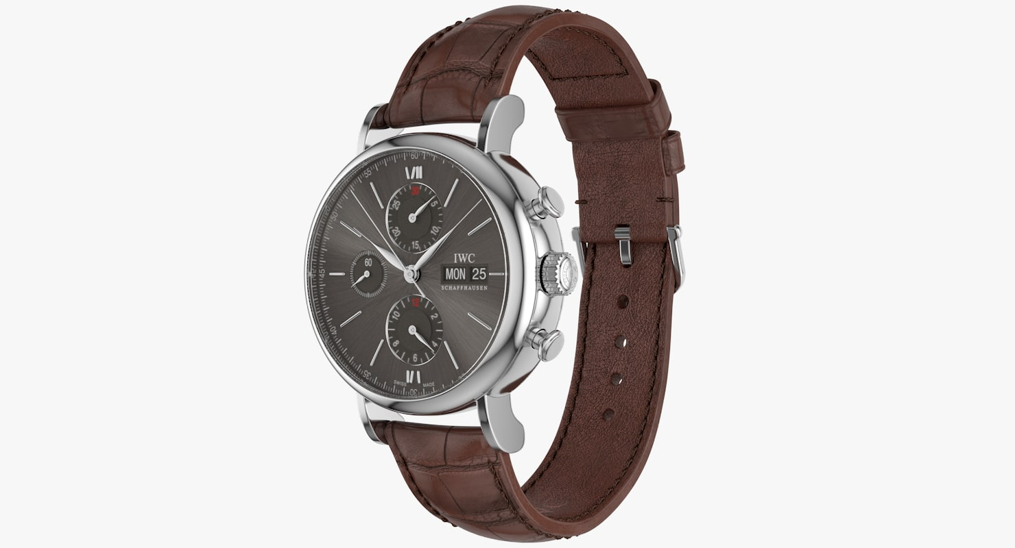 realistic iwc portofino chronograph 3d ma