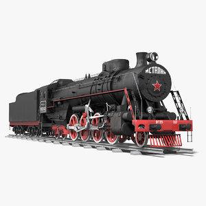 soviet locomotive class passenger 3d model