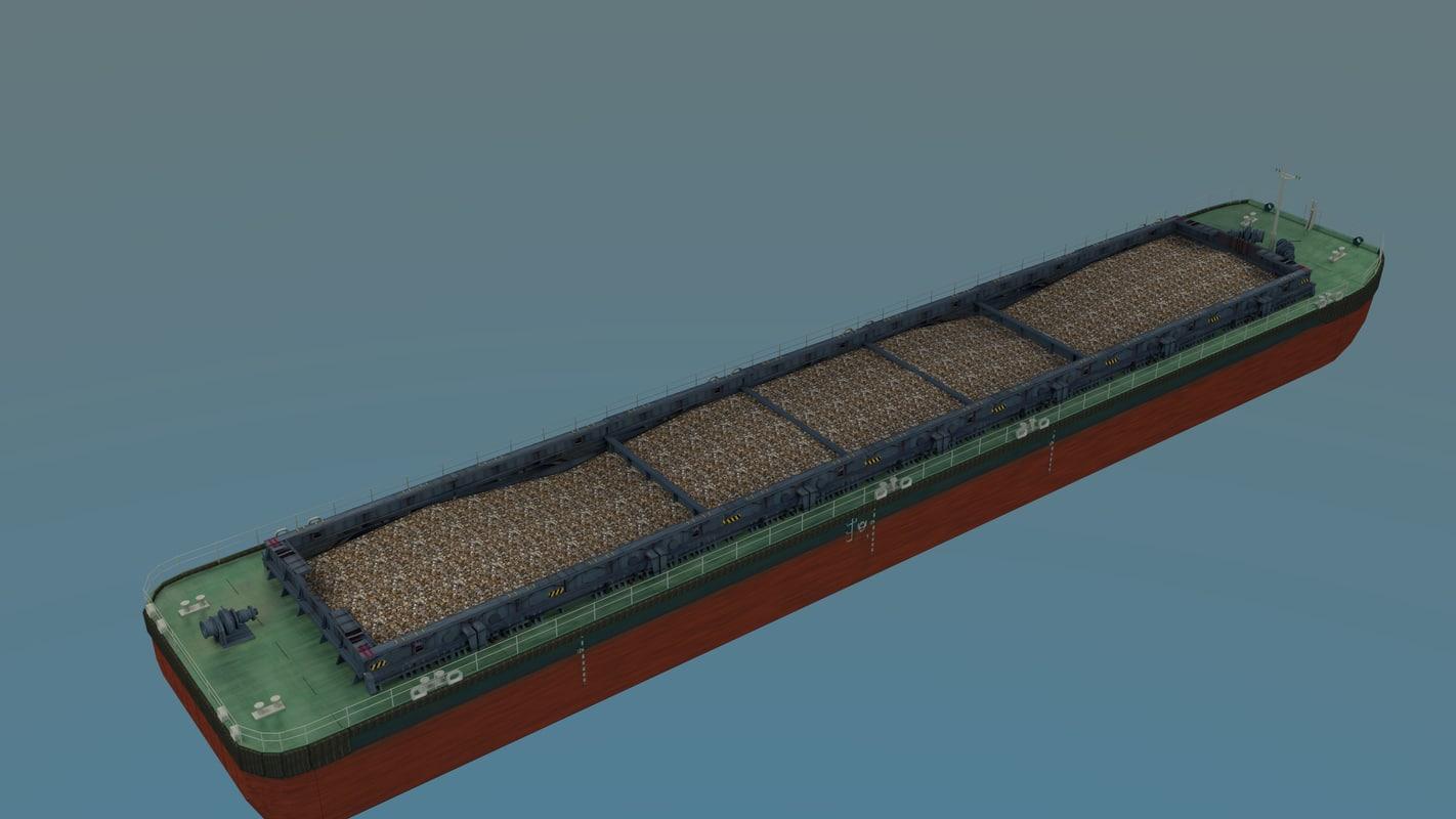3d model barge bulk