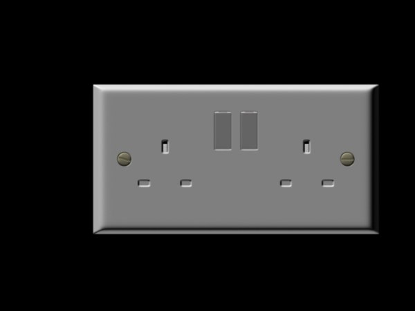 3d wall socket
