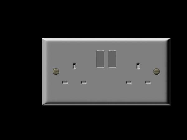 3d wall socket