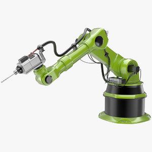 3d model industrial robot 1