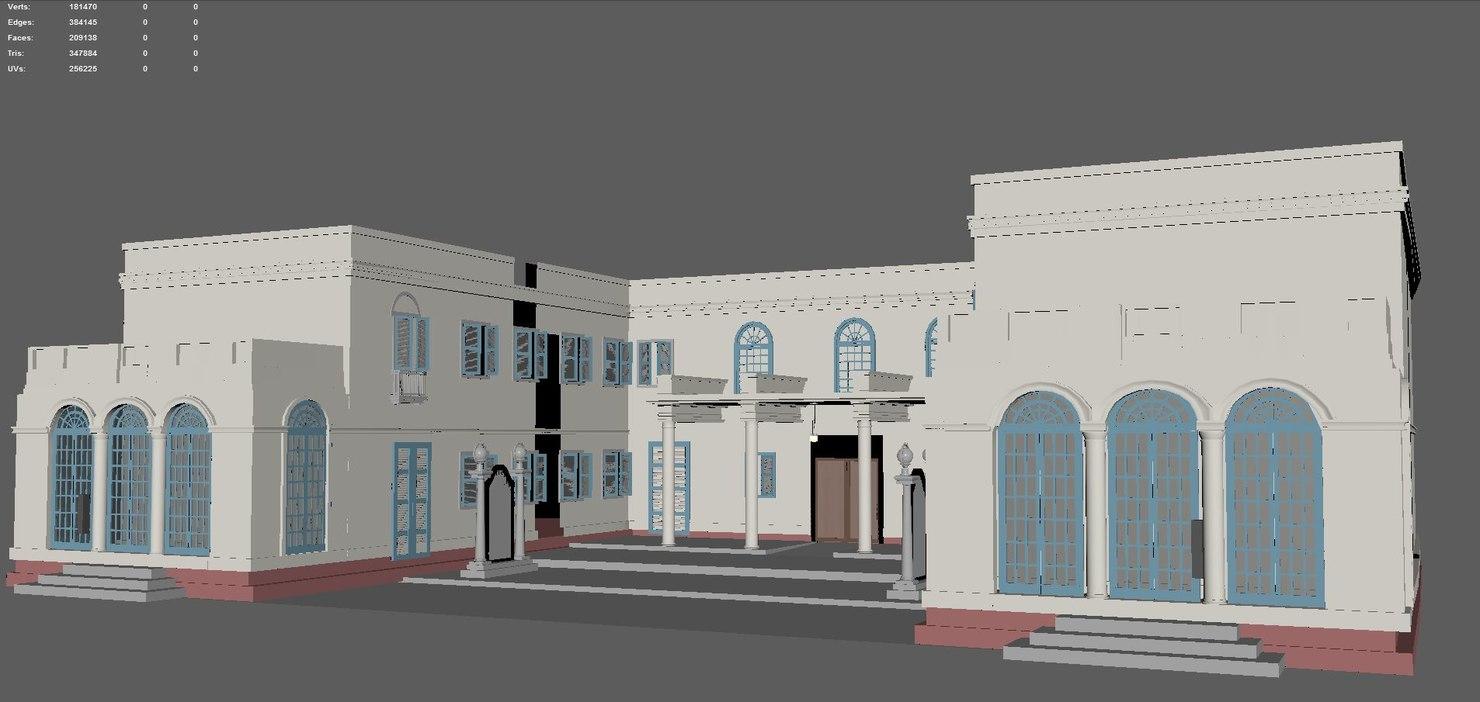 3d birla house model