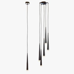 lamp light stylo black 3d 3ds