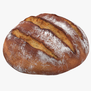 3d bread loaf 02