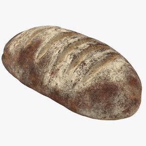 3d model bread loaf 03