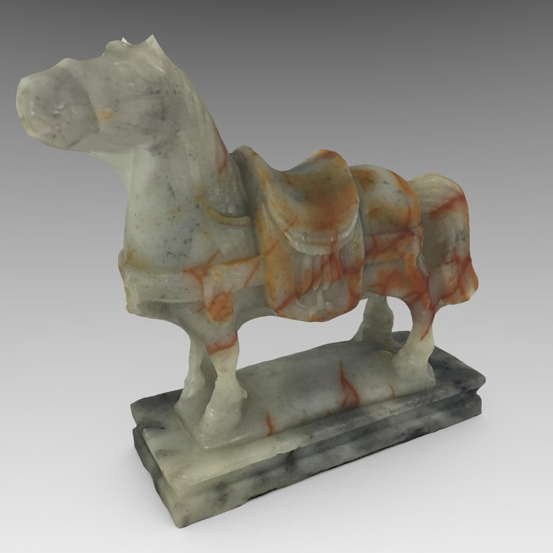 small horse statue 3d - photo #36
