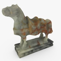 small chinese jade horse 3d model