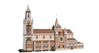 3d model roman catholic church building