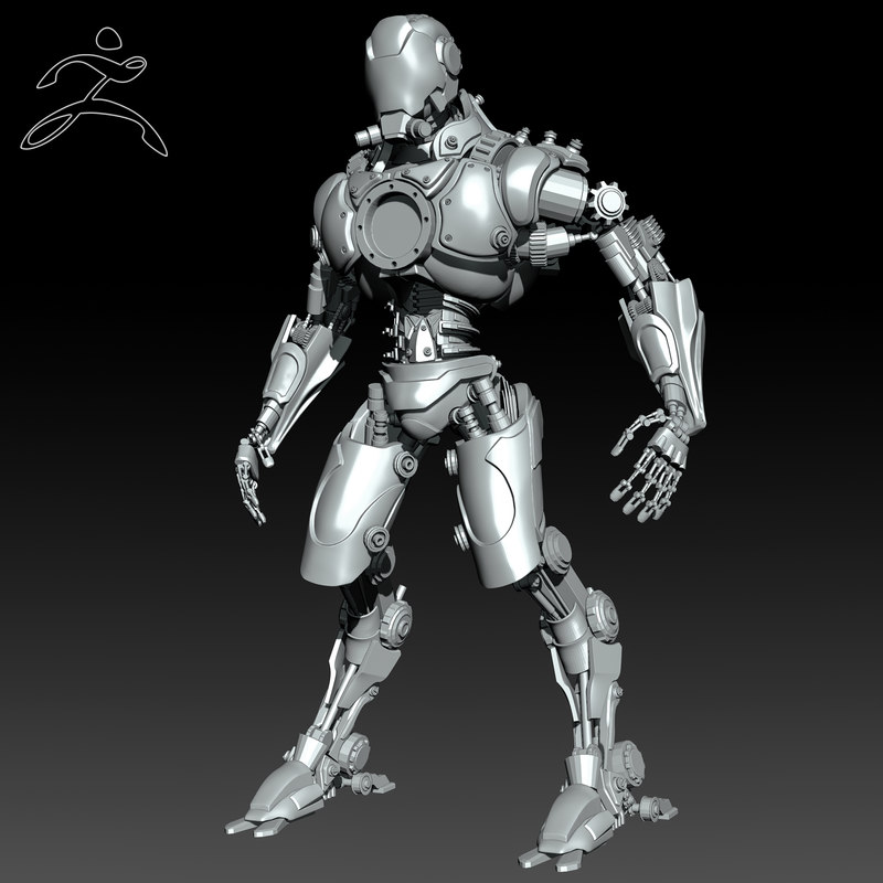 robot zbrush ztl 3d model