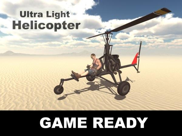 obj ultralight helicopter