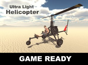 obj ultralight helicopter