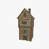 3ds medieval tudor house