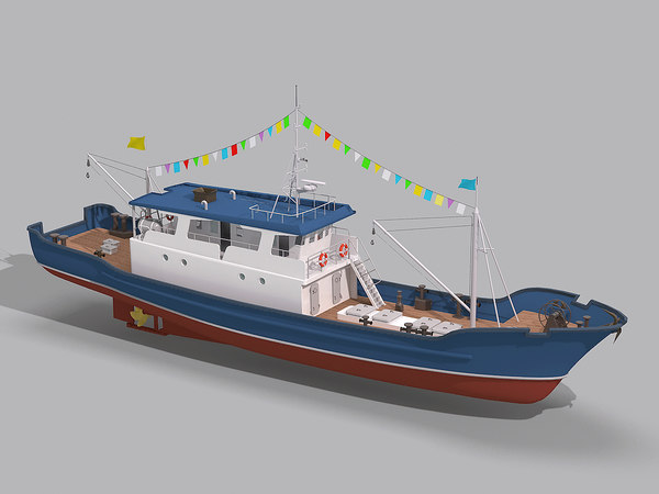 boat fishing 3d max