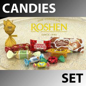 3d candies set roshen model