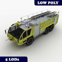 3d model rosenbauer mk-8 truck lod