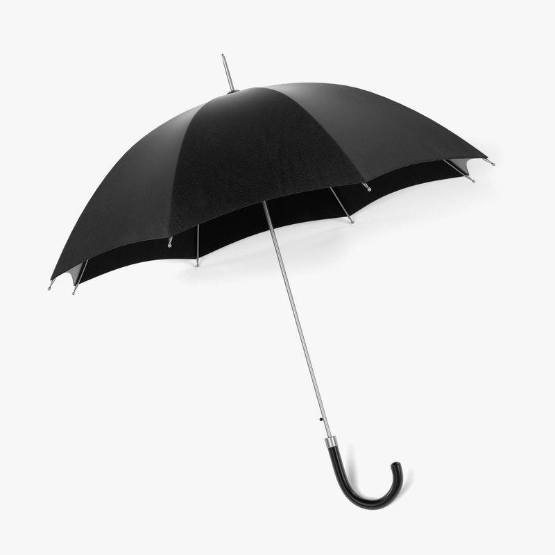 3d 3ds umbrella opened