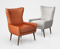 Erik Upholstered Wing Chair by West Elm