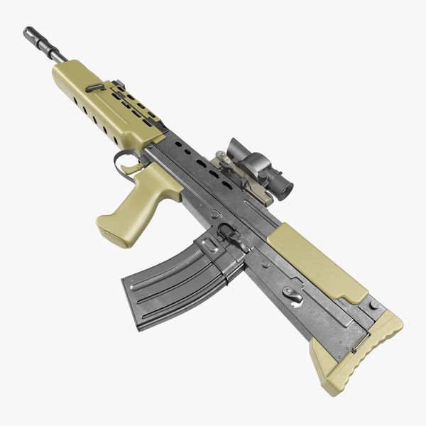 assault rifle l85a2 scope 3d model