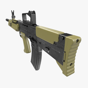 bullpup assault rifle l85a2 3d max