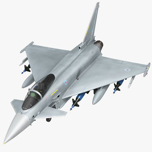 multirole fighter eurofighter typhoon 3d model