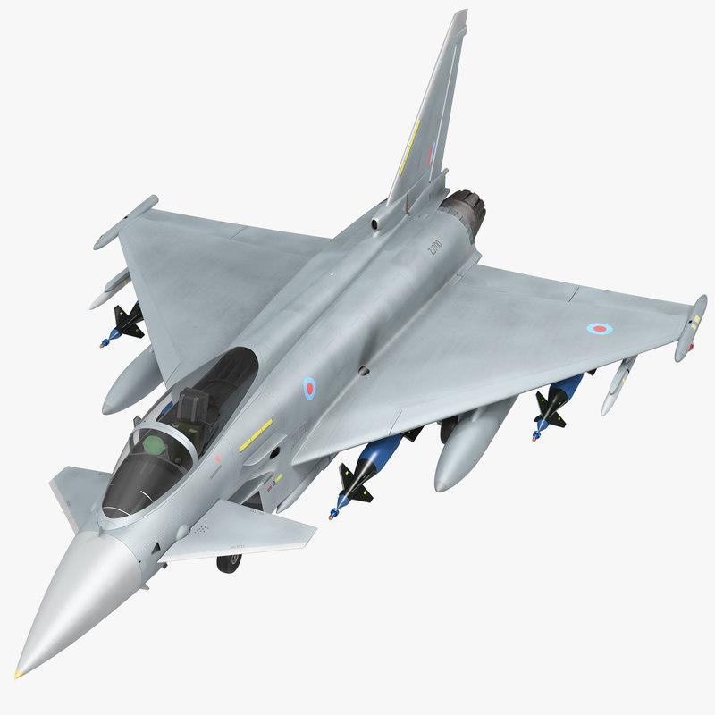 multirole fighter eurofighter typhoon 3d model