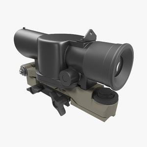 scope mount assault rifle 3d max