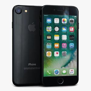 3d apple iphone 7 jet