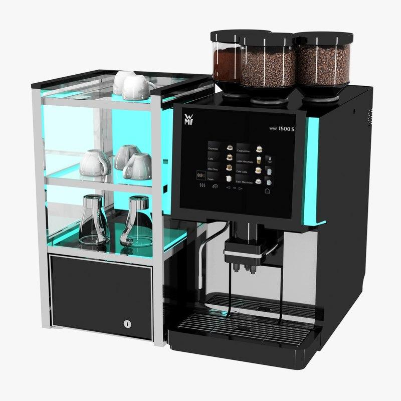 coffee machine wmf cups 3d max