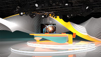 virtual tv studio camera 3d model