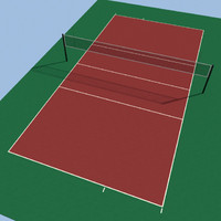 volleyball court 3d max