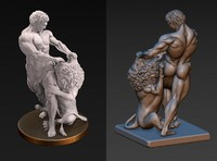 3d samson lion sculpture model